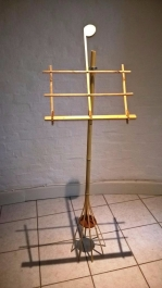 Music stand from front.