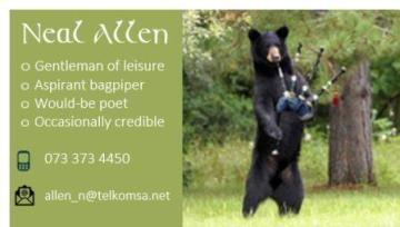 Black bear calling card web